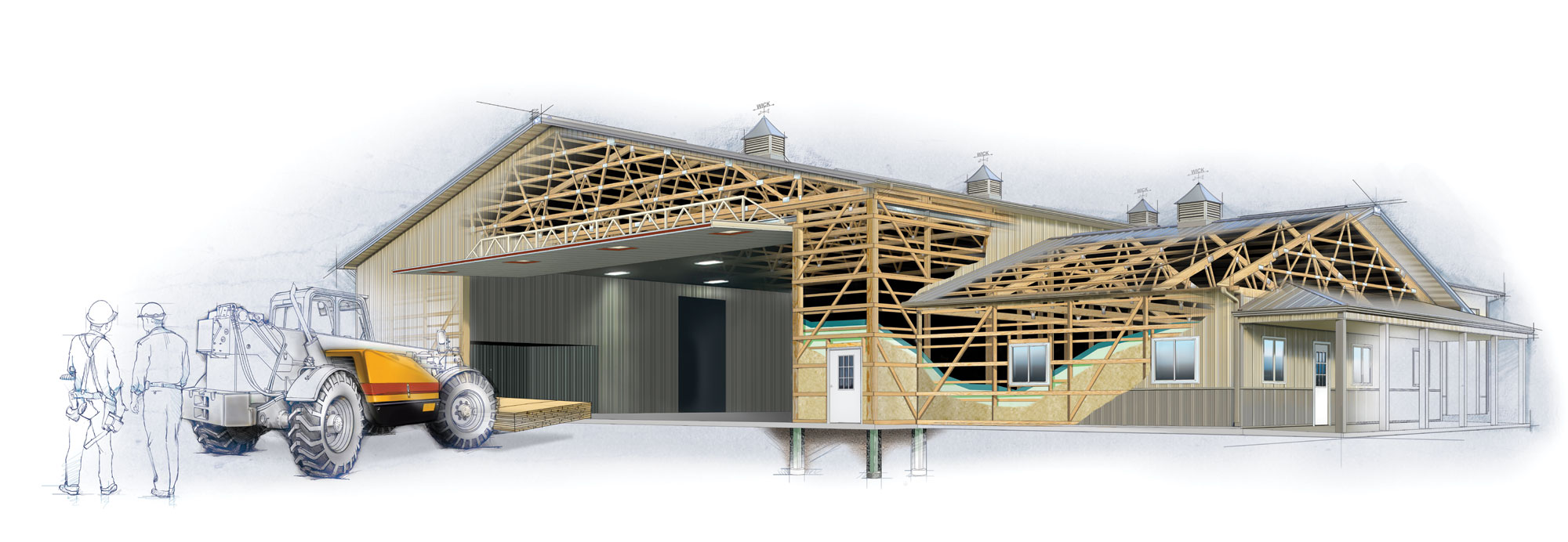 Post frame construction | Wise Construction Services, Yorkville, IL ...